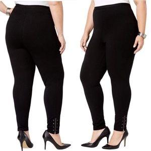 Restocked! NWT Style & Co Zip-hem Black Leggings